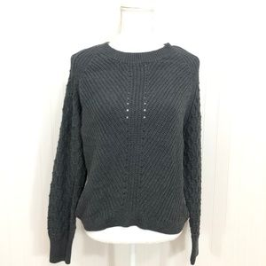 1. State Crew Neck Texture Sleeve Sweater Size M
